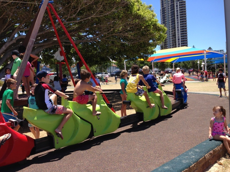Carey Park, Gold Coast Park, water play, Southport, playground